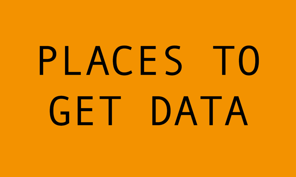 Archiving my collection of places to access data